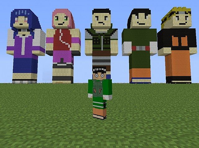 Naruto Shippuden Character Statues! Minecraft Project