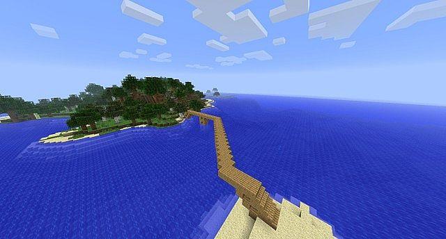 A bridge over the island