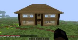 Large Log Cabin Minecraft Map & Project