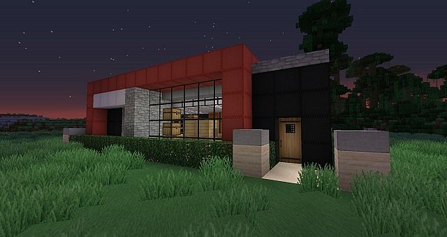 Modern house 3 18x18 minecraft project for Modern house 18x18