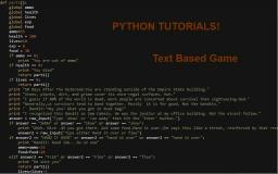 Python TBRPG Tutorial 2: Basics! Part 1. Minecraft Blog Post