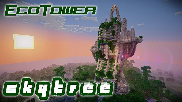 Best arcology minecraft maps projects planet minecraft ecotower skytree minecraft map project voltagebd Images