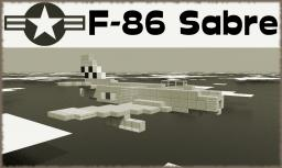 F-86 Sabre [Jet Fighter] Minecraft Map & Project
