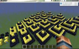 Butterflyish Pattern made from pyyramids things.!! :D Minecraft