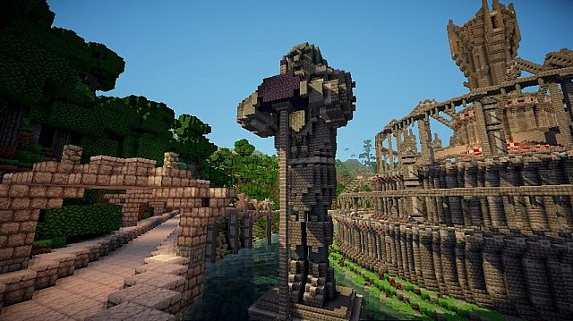 The Statues of Hammerfell Fractured Forge MC Minecraft Map