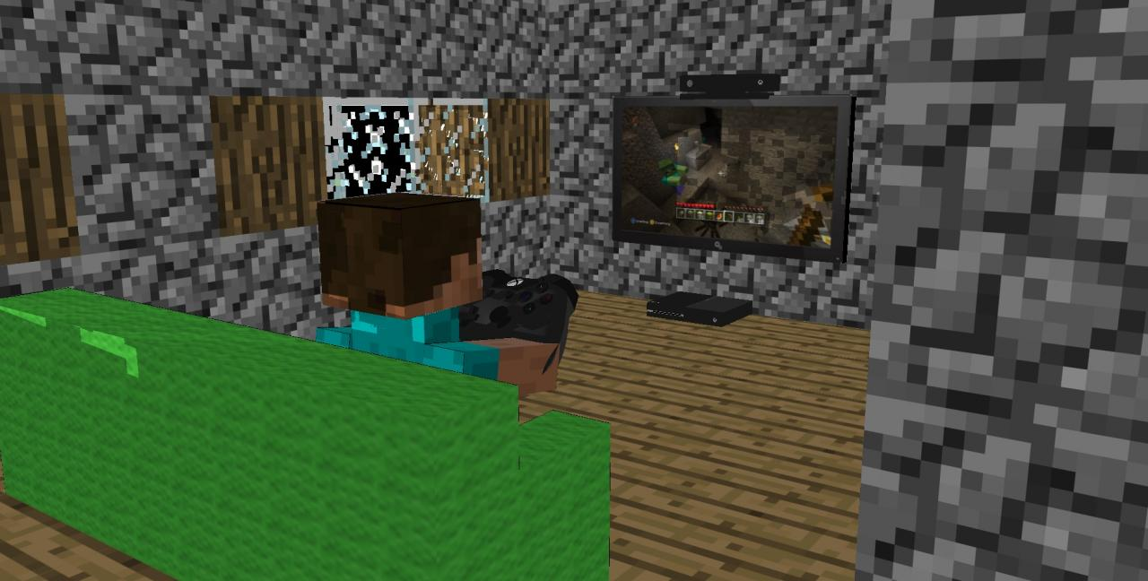 SketchUp Art: Xbox One In Minecraft! Minecraft Blog