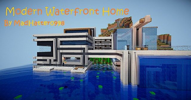 Modern Water Front Home Minecraft Project