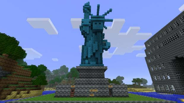 Small statue of liberty minecraft project