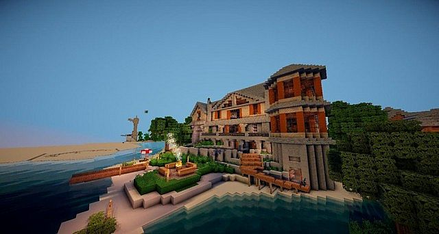 attic media room ideas - Lake House Cedar Creek Ninaman Minecraft Project