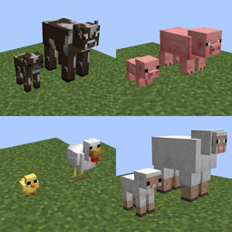 Better Vanilla Babies & Pixel Perfect Mobs 1.5.6 (Optifine) Minecraft Texture Pack