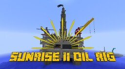 Minecraft Sunrise II Oil Rig Minecraft Map & Project
