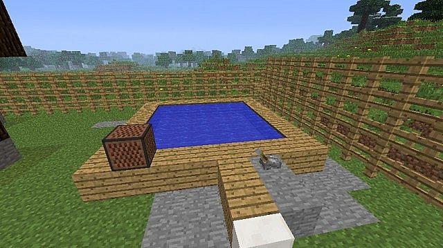 casa moderna,jacuzzi,piscina e moinho Minecraft Project