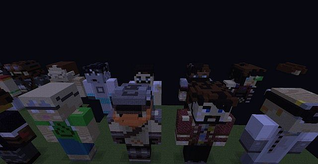 Yogscast Member Statues Minecraft Map