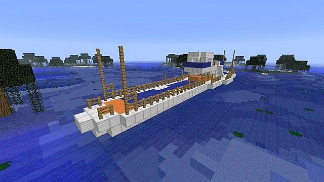 Large Fishing Boat Minecraft Project