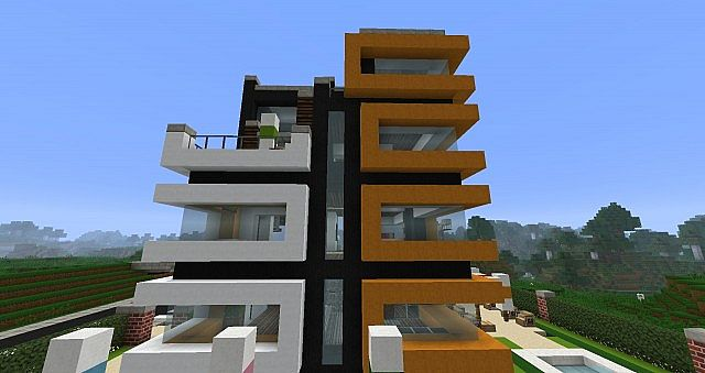 Minecraft modern hotel minecraft project for Moderne hotels