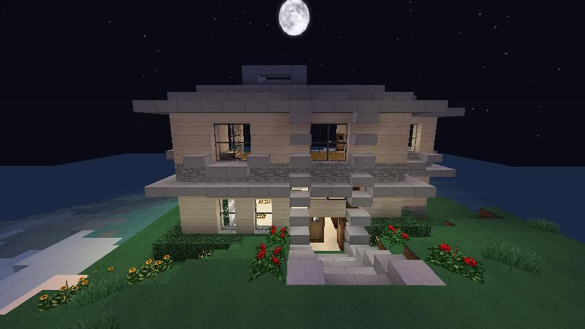 Minecraft - Modern Beach House Minecraft Project