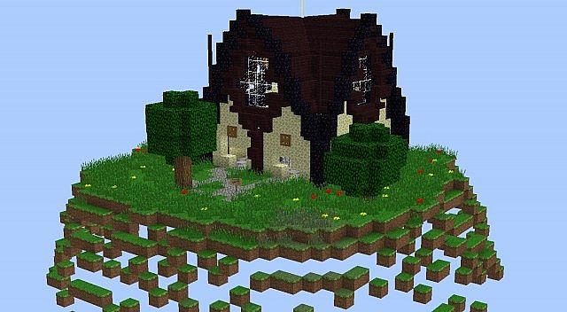 Ender Themed Spawn Hut Minecraft Map