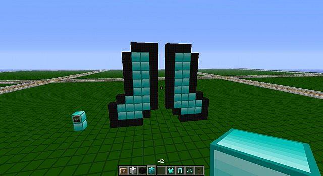 diamond boots pixel art Minecraft Map