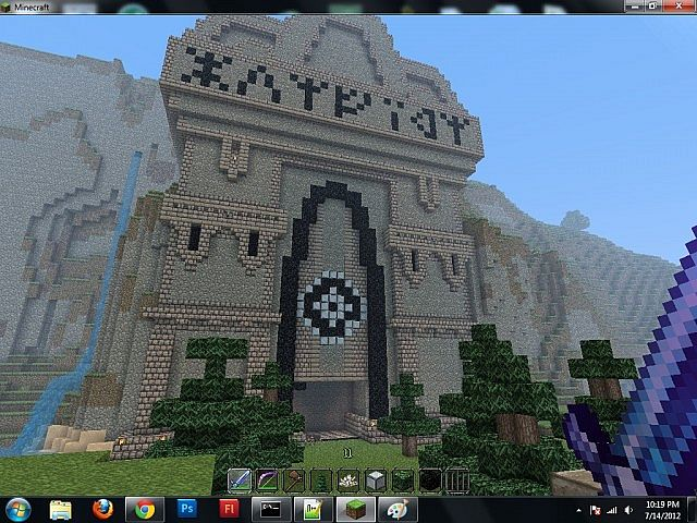 This great ornate door is the main entrance to the & The Dwarven City Of Vongirn Minecraft Project