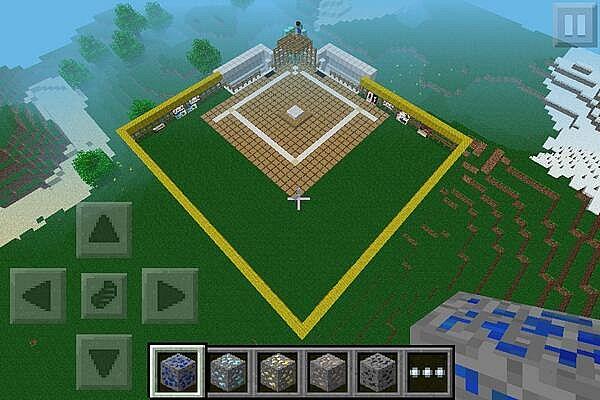 minecraft pe baseball field minecraft project