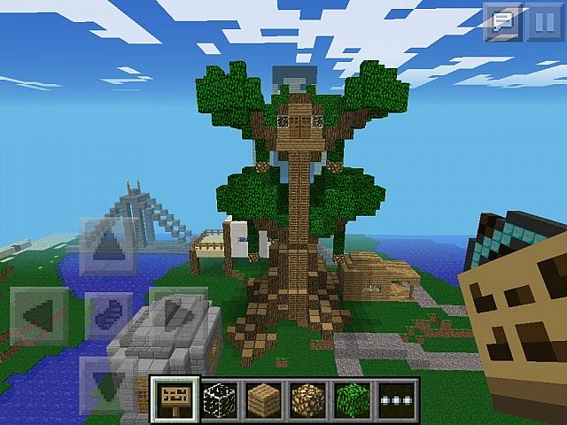 how to build a treehouse in minecraft pe building storage