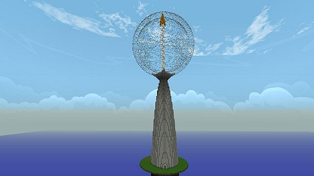 Modern Tower By Neo Turm 256m Minecraft Project