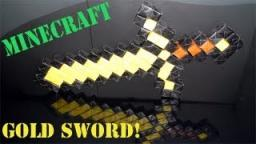 Minecraft  Paper Gold Sword (No glue or tape - Sonobe) Budder Sword Minecraft Blog