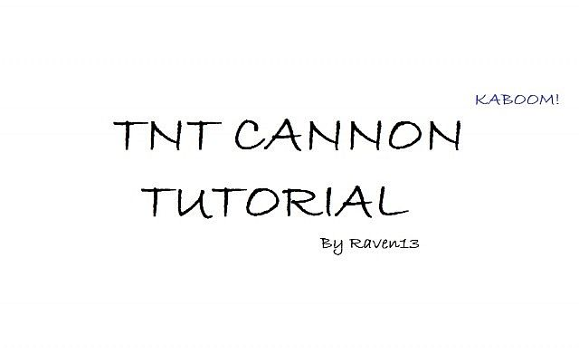 how to create a tnt cannon