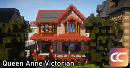 Queen Anne Victorian | By: Sami3t | CCS Minecraft Map & Project