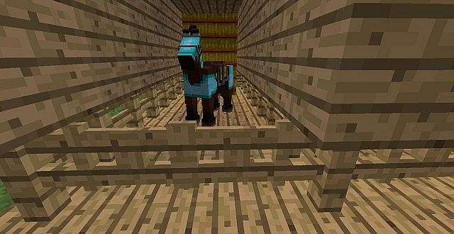 horse stall minecraft project