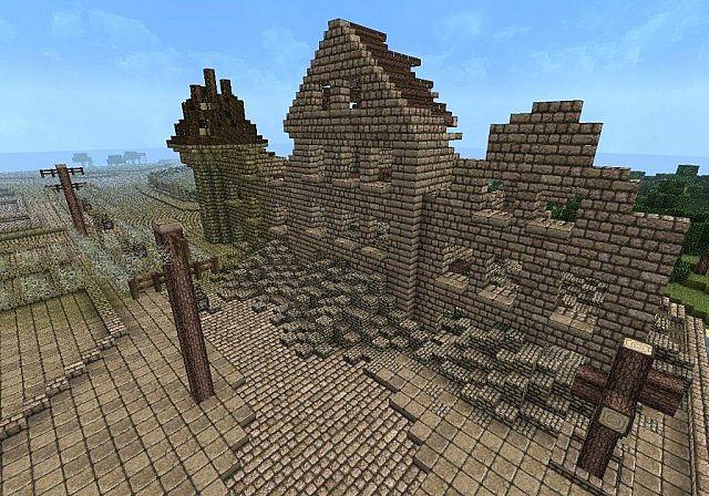Minecraft Medieval City Download WW2 City Ruin Minecraf...