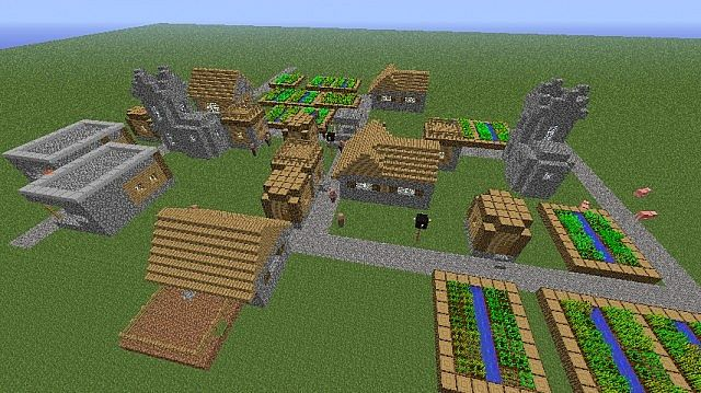 Awesome Superflat Village Seed Minecraft Project