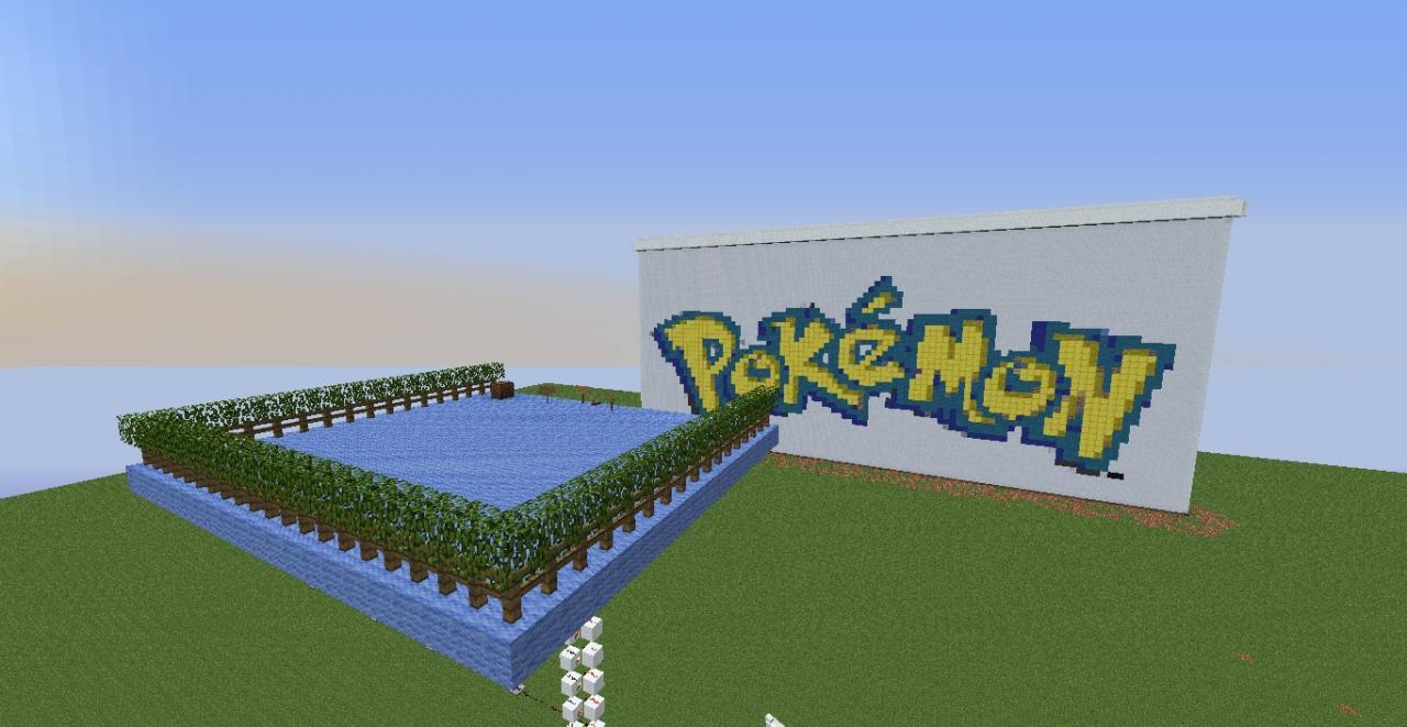 Pokemon logo pixelart minecraft project - Pokemon logo minecraft ...