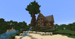 A Little Orange Forest House Minecraft Map & Project