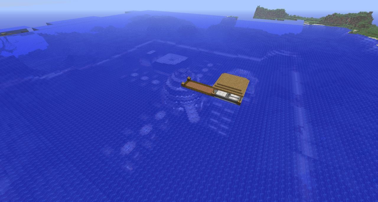 Underwater hotel minecraft project