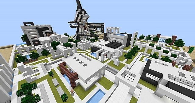 Modern Village Minecraft Project