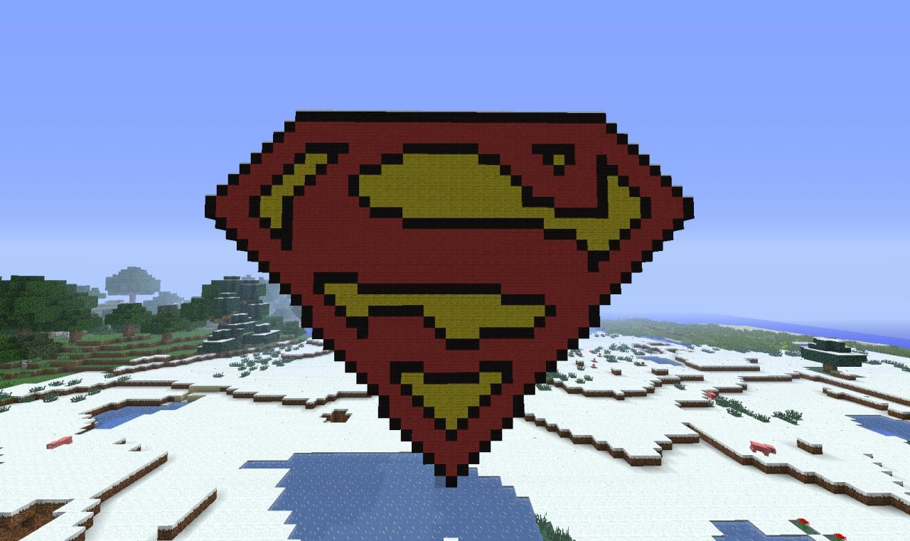 superman symbol of hope minecraft project