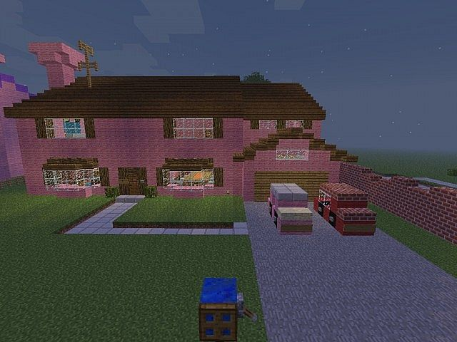 how to build cartoon houses in minecraft