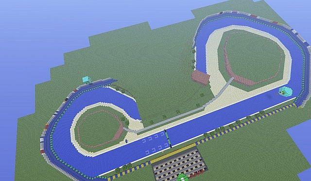 Luigis Raceway Mario Kart 64 Mk7 Boat Racing Minecraft Map