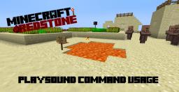 [1.6] Usage of /playsound command Minecraft Map & Project