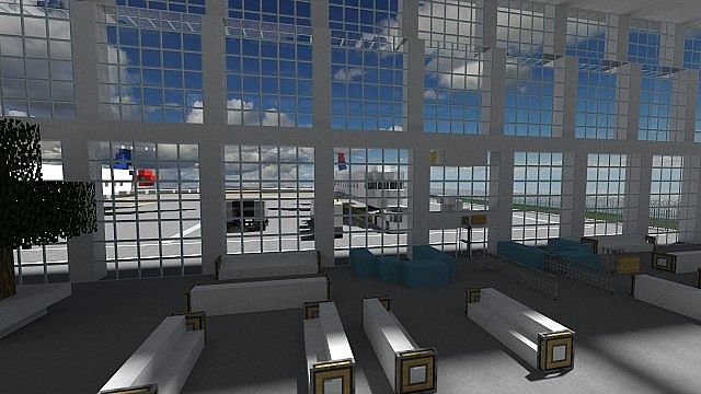 Minecraft international airport terminal 1 minecraft project auto