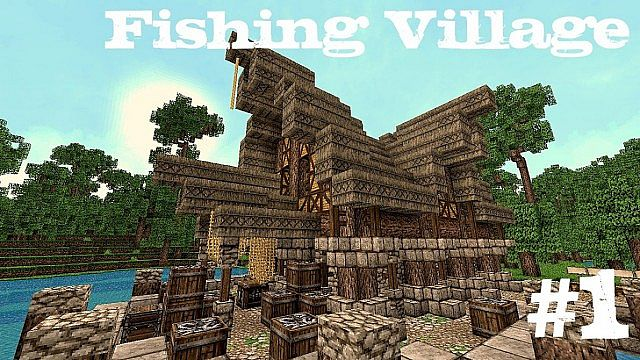 Minecraft fishing village 1 fish market minecraft project for Village fish market
