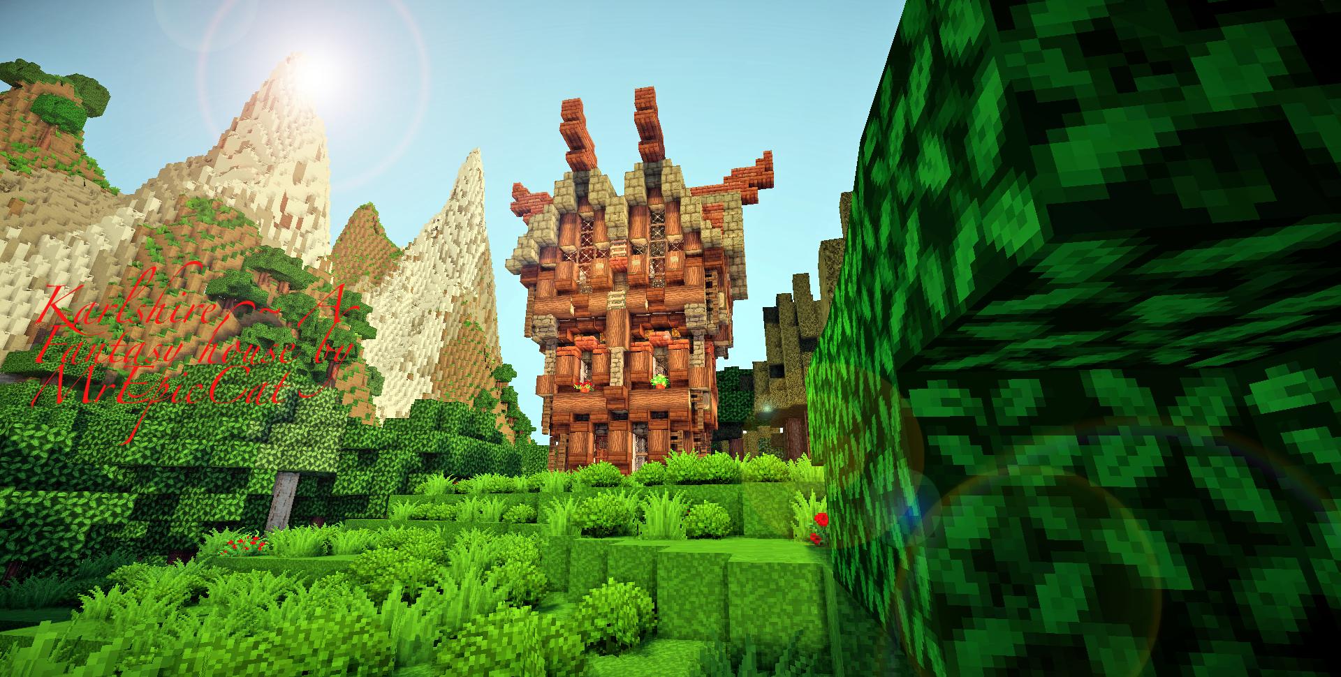 Fairlewyn, ~ A fantasy Home! + I'm Back! Minecraft Map & Project