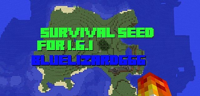 1.6.1 Survival Island Seed Minecraft Project