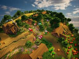 Medieval Farm Village (World save and MCEdit Schematic, 1.7) Minecraft Map & Project