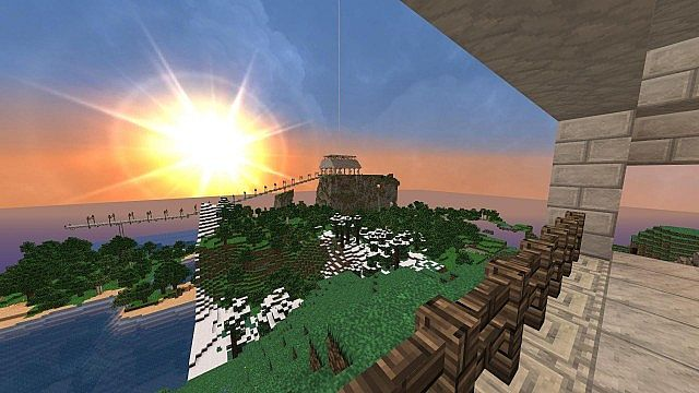 View from temple to spawn