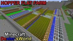 Hopper Farm Wheat Carrots Potatoes Flat Minecraft Map & Project