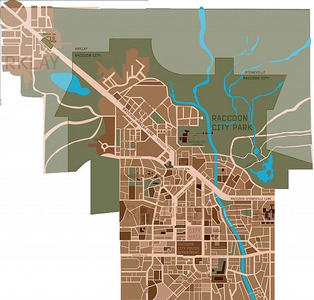 Raccoon City Map That We Are Using For A Guide