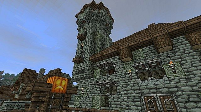 how to make medieval-like structures in minecra