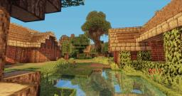 a server spawn/village with huge tree Minecraft Map & Project
